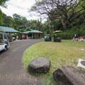 Snackbar and restrooms at Waimea Valley.- Waimea Valley Botanical Garden + Cultural Center
