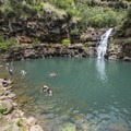 Waimea Falls at Waimea Valley.- Waimea Valley Botanical Garden + Cultural Center