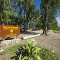 Mālaekahana Beach Campground.- Mālaekahana Beach Campground