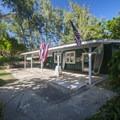 Office building at Mālaekahana Beach Campground.- Mālaekahana Beach Campground