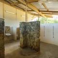 Restroom and shower facilities at Mālaekahana State Recreation Area Campground.- Mālaekahana State Recreation Area Campground
