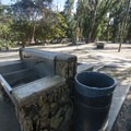 Wash basin at Mālaekahana State Recreation Area Campground.- Mālaekahana State Recreation Area Campground