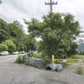 The parking lot and roadside trail.- Breakneck Ridge