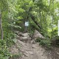 Warning signs at the trailhead.- Breakneck Ridge