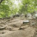 The rock climbing starts right away.- Breakneck Ridge