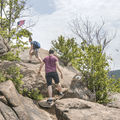 Ascending to the flags.- Breakneck Ridge