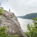 A hiker on the ridge looking to the south.- Breakneck Ridge