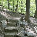 A few stone steps near the bottom.- Breakneck Ridge