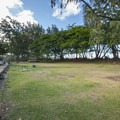 Camping area at Kokololio Beach Park.- Kokololio Beach Park Campground