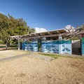 A public restroom facility at Sandy Beach.- Sandy's Beach