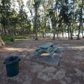 Typical campsite at Waimanalo Bay Beach Park Campground.- Waimanalo Bay Beach Park Campground