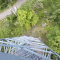 Looking back down to the bottom.- Ninham Mountain Fire Tower