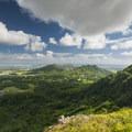 View east over Kāneʻohe and Kailua from Nu'uanu Pali Lookout.- Nu'uanu Pali Lookout