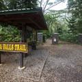Trailhead for the Mānoa Falls Hike.- Mānoa Falls Hike