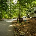 Paved campsites can be rented at the Main Lodge.- Paris Mountain State Park