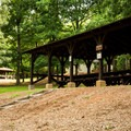 Various picnic shelters are scattered along the main road leading to the top of Paris Mountain.- Paris Mountain State Park