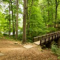 A historic bridge built during the Civil War.- Paris Mountain State Park
