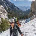 Heading up to Lower Boyscout Lake.- Mount Whitney: Winter Mountaineers Route