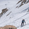 The Mountaineers Route after a heavy winter season.- Mount Whitney: Winter Mountaineers Route