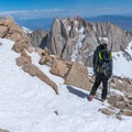 The view from the notch.- Mount Whitney: Winter Mountaineers Route