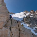The last 400 feet toward the summit.- Mount Whitney: Winter Mountaineers Route