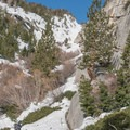 The North Fork after a heavy winter season.- Mount Whitney: Winter Mountaineers Route