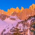 Rugged alpine vistas from the Mountaineers Route up Mount Whitney.- Mount Whitney: Winter Mountaineers Route