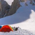 Snow camping on Mount Whitney on the Mountaineers Route.- Mount Whitney: Winter Mountaineers Route