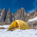 A campsite above Upper Boyscout Lake.- Mount Whitney: Winter Mountaineers Route