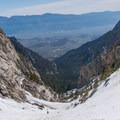 A snow slope above Lower Boyscout Lake.- Mount Whitney: Winter Mountaineers Route
