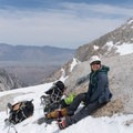 Above Upper Boyscout Lake.- Mount Whitney: Winter Mountaineers Route
