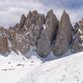 Mount Whitney wearing a winter coat.- Mount Whitney: Winter Mountaineers Route