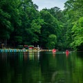 Groups take to the water to beat the summer heat.- Paris Mountain State Park