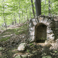 An old spring at the trail junction.- Storm King Mountain