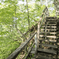 Stairs to help you over some steep rocks.- Storm King Mountain
