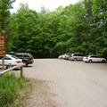 The parking area for Adirondack Mountain Reserve.- Gill Brook Trail