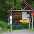 A trail register.- Gill Brook Trail