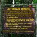 Restrictions for the area.- Gill Brook Trail