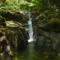 A waterfall along the trail.- Gill Brook Trail