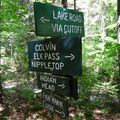 The junction at end of the trail.- Gill Brook Trail