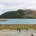 Pristine blue water at Lake Tekapo.- Lake Tekapo + Church of the Good Shepherd