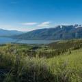 Twin Lakes below the trailhead.- Mount Elbert East Ridge Hike