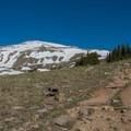 Looking toward the remaining climb.- Mount Elbert East Ridge Hike