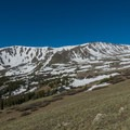 This ridge is the popular Class II climbing route on the southern side.- Mount Elbert East Ridge Hike