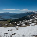 Looking south over the mountains of the East Ridge.- Mount Elbert East Ridge Hike