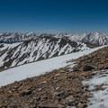 The peaks south of Elbert.- Mount Elbert East Ridge Hike
