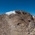 The summit block.- Mount Elbert East Ridge Hike