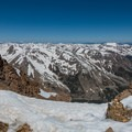 Looking north from the summit.- Mount Elbert East Ridge Hike