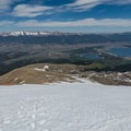 Looking back at the route up.- Mount Elbert East Ridge Hike