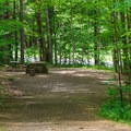Typical campsite at Mount Ascutney State Campground.- Mount Ascutney State Park Campground